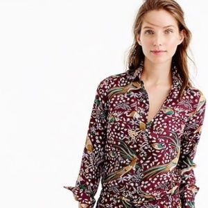 Drake's for J. Crew Bird of Paradise blouse size 6